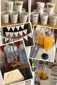 Brunch party- decorate mugs!