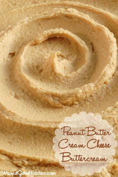 Peanut Butter Cream Cheese Buttercream ~ Rich, creamy, light & fluffy packed with flavor. It tastes just like peanut butter pie and the texture is like mousse! The perfect frosting for peanut butter lovers. Frosting Recipes, Cake Recipes, Dessert Recipes, Just Desserts, Delicious Desserts, Dessert Healthy, Eat Healthy, Healthy Meals, Healthy Recipes