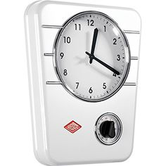 Wesco Kitchen Clock Classic Line, White