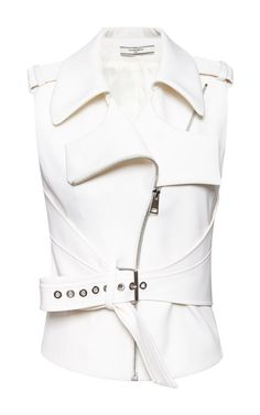 Ivoire Summer Canvas Vest by Bouchra Jarrar for Preorder on Moda Operandi