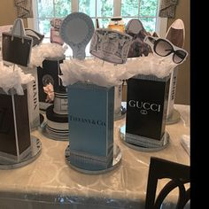 Gift box stack centerpiece perfect for any event - Sweet Birthday or Quince Box Tower Centerpiece Sweet 16 Centerpieces, Sweet 16 Decorations, Feather Centerpieces, Birthday Decorations, Sweet 16 Candles, Sweet 16 Birthday, 60th Birthday, Birthday Gifts, Silver Candle Holders