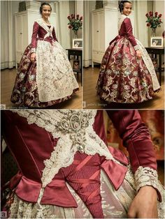 Designer Clothes, Shoes & Bags for Women 1700s Dresses, Old Dresses, Vintage Dresses, Vintage Outfits, Vintage Fashion, Historical Costume, Historical Clothing, Pretty Outfits, Pretty Dresses