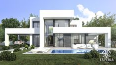 Your professional purchasing agent, for the best first-line villas and building plots. Be Spoiled properties, new build, renovations and investments Spain. Modern House Plans, House Floor Plans, Casa Loft, Modern Villa Design, Minimalist House Design, Facade House, Exterior Design, Architecture Design, House Styles