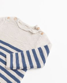 Image 3 of STRIPED KNITTED SWEATER from Zara