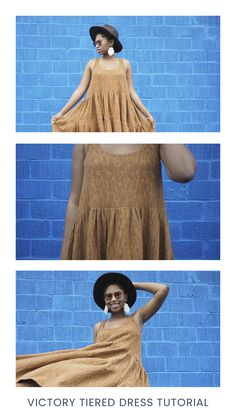 Click over to the blog for a tutorial for using the Victory Tank Top PDF sewing pattern to create a tiered summer sundress.