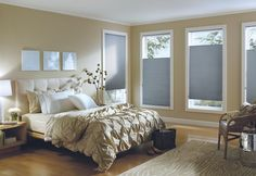 Hunter Douglas Applause® honeycomb shades with Cordlock. The Plantation Shutter Company is the proud dealer of Hunter Douglas Shades in NC and SC. Call us for a Free Consultation and Estimate Living Room Blinds, Bedroom Blinds, House Blinds, Bedroom Windows, Blinds For Windows, Curtains With Blinds, Diy Blinds, Bedroom Window Coverings, Arch Windows