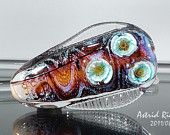 After the Rain-Lampwork focal bead-50mm