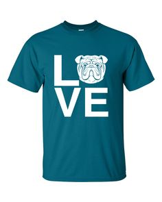 This Bulldog Love tee is an A Dog's Love™ exclusive for bulldog lovers who spell true love with a bully! Now you can show off your bulldog pride with our popular Bulldog Love tee. This original design