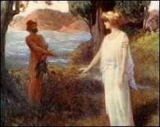 La rencontre d'ulysse et calypso