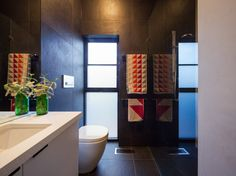 Our Slab Black Italian Porcelain tiles utilized on bathroom floors and walls in this newly built Brighton home. Our Slab range has a slate appearance and feel adding a natural soft texture to the space. Brighton Houses, Black Italians, Porcelain Tiles, Bathroom Flooring, Bathroom Inspiration, Slate, Natural Stones, Floors, Bathrooms