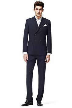 Double-breasted is the latest must-wear trend for your groom. We love this suit from Reiss Best Mens Fashion, Fashion Line, Reiss, Modern Man, Party Fashion, Mens Clothing Styles, Dress For You, Mens Suits, Double Breasted