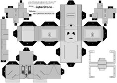 Deviantart user CyberDrone has created a ton of Doctor Who Cubeecraft art. Print out a TARDIS, some Daleks, and a few Cybermen to watch the refreshment table at your next Who viewing party. Don& print out Davros — he& pruny. Doctor Who Origami, Doctor Who Craft, Diy Doctor, Doraemon, Paper Toys, Paper Crafts, Paper Art, Mr Printables, Free Printable