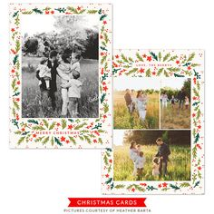 christmas | Photoshop templates for photographers by Birdesign