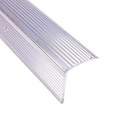 M-D Building Products 73270 Tall - Fluted 1-Inch by 1-3/4-Inch by 72-Inch Stair Edging, Silver by M-D Building Products. $17.38. From the Manufacturer                Individually packaged stair edging protects edge of stair from damage in residential and light commercial use. Six-Foot length great for both new installations or to replace old floor trim. Includes pre-drilled holes and fasteners. Made with an attractive and durable silver, fluted design finish.            ...