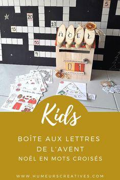 Boite aux lettres de l'avent : Noël en mots croisés (calendrier de l'avent pour enfants)