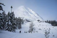 Leutasch, Rauthhütte, Blick auf Hohe Munde