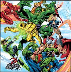 DC vs. Marvel, por Mark Bagley