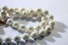Iridescent Faux Pearl Bead Necklace by amyrigs on Etsy