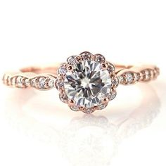 Buy a Handmade Pink Halo Custom Diamond Engagement Ring, made to order from Engagements by John Kocak | CustomMade.com