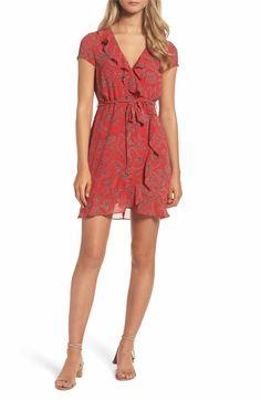 Main Image - Bardot Bandana Print Wrap Dress
