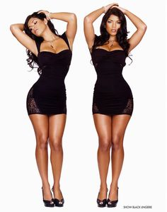 Hmm, wish I could fill out a little black dress like this..