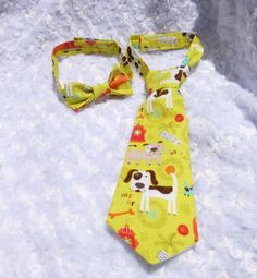 Handmade Doggies adjustable child necktie /  by ATARAHSCREATIONS, $5.00