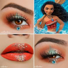 Awesome Makeup Ideas from Disney. Are you a fan of Disney? The magic of Disney extends much further than the sweet movies and enchanting theme parks. Vintage Makeup Looks, Purple Makeup Looks, Red Lips Makeup Look, Glitter Makeup Looks, Soft Makeup Looks, Summer Makeup Looks, Halloween Makeup Looks, Cute Makeup, Green Makeup