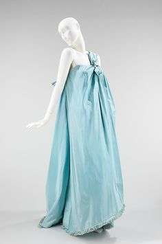 Evening Dress, Hubert de Givenchy (French, born Beauvais, 1927) for the House of Givenchy (French, founded 1952): 1960, French, silk.