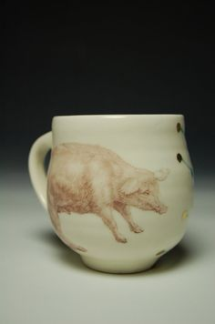 Pig Mug by patticeramics on Etsy, $34.00