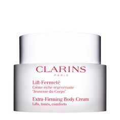 Clarins - Extra-Firming Body Cream (it actually works amazing, specially when used with the Tonic Body Treatment Oil)