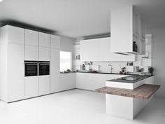 LINE K | Cucina con penisola by Zampieri Cucine | design Stefano Cavazzana