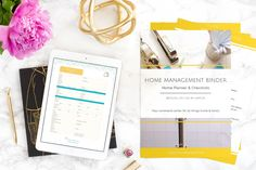 Learn all the benefits of using a home management binder and get started now! New and now editable the binder and calendar are here! A Personal Organizer Family Planner, Home Planner, Home Management Binder, House Management, Life Binder, Organization Hacks, Organizing Solutions, Organizing Tips, Personal Organizer