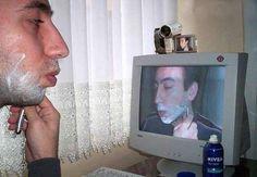 Who needs a mirror... when you've got a web cam?!