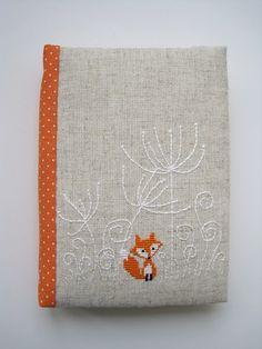 Christiane Dahlbeck вышивка крестиком cross stitch hand made notebook блокнот ручной работы лис fox