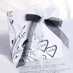 Black and White Ribbon Wedding Invitations UKF164 free shipping of invitations canada