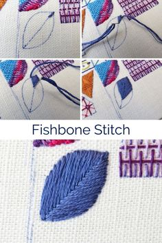 Hand embroidery stitch tutorials, step by step for basic stitches and the more advanced | hand embroidery stitches | fishbone stitch embroidery | beginner hand embroidery | hand embroidery tutorials | Hand Embroidery Designs | hand embroidery techniques | crewel embroidery tutorial | needlework stitches | needlework stitches tutorials | needlework stitches simple | free embroidery stitch sampler Hand Embroidery Projects, Embroidery Stitches Tutorial, Hand Embroidery Flowers, Embroidery On Clothes, Embroidery Sampler, Hand Embroidery Designs, Diy Embroidery, Embroidery Techniques, Cross Stitch Embroidery