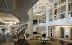 Modern interior villa design wallpaper