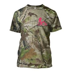 Country Barbie pink camo shirt REALTREE | Lets go huntin boys I'll sh… ❤ liked on Polyvore featuring shirts, tops and camo