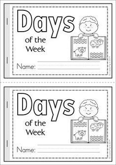 Days of the Week Cut & Paste reader {FREE}