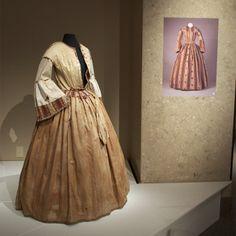 Printed day dress, ca. 1850