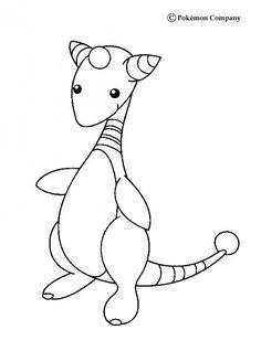 Ampharos Wings Pokemon Coloring Page More Electric Sheets On Hellokids