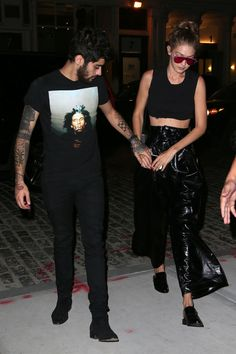Gigi Hadid goes out with huge stars Zayn Malik & Taylor Swift, but all eyes were on her statement pants.