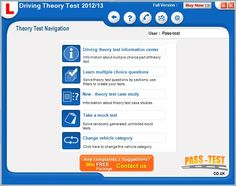 Driving test software preview Driving Theory Test, Driving Test, Information Center, Multiple Choice, Case Study, Create Yourself, Software, Learning, Studying