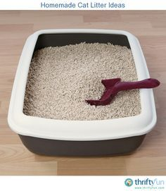 This is a guide about homemade cat litter ideas. Many cat owners prefer to make their own cat litter, rather than buy the commercial varieties available at the store.
