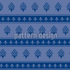 Royal Artichokes designed by Martina Stadler available on patterndesigns.com Artichokes, Surface Pattern Design, Vector Pattern, Baroque, Lily, Patterns, Home Decor, Block Prints, Decoration Home