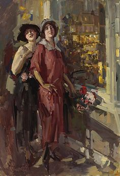 At The Window  by Konstantin Korovin(1923) Ada in sleeveless dress and Sarah in New York before Ada drowns on River Beach in Carmel, California. Was it really suicide or was she murdered?
