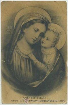 POSTAL RELIGIOSA. MATER BONI CONSILII P-REL-251 (Postales - Religiosas y Recordatorios) Madonna And Child, Tween, Mona Lisa, Baby Boy, Artwork, Work Of Art, Auguste Rodin Artwork, Artworks, Boy Newborn