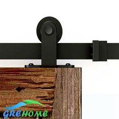 4.9FT/6FT/6.6FT Carbon steel interior sliding barn wood entry sliding door fittings