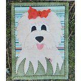 Doodles Dog Mug Rug Pre-cut Applique Kit, Sewing Kit
