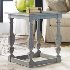 Love this color. Modern History Home Italian End Table #laylagrayce #bunnywilliamshome